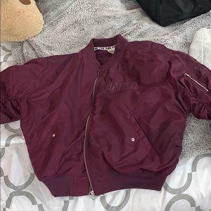 Purple PINK bomber jacket